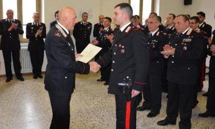 Il generale di brigata Gino Micale, comandante della Legione Carabinieri Piemonte, in visita a Novara