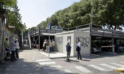 Sbarra bloccata al parcheggio di viale Marconi