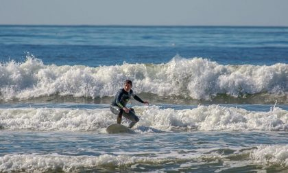 Matteo Fanchini da Arona ai mondiali di surf