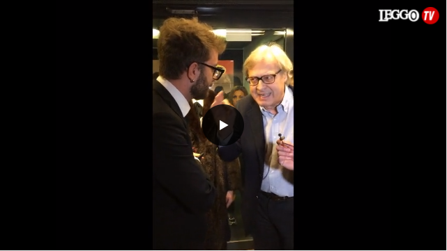 Duro scontro tra Vittorio Sgarbi e Le Iene