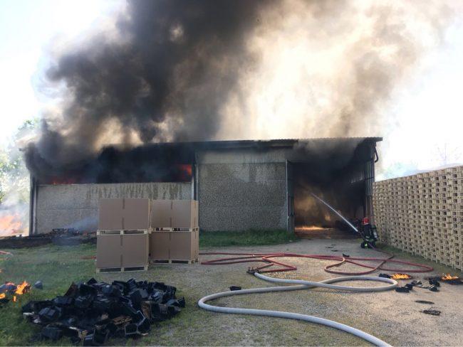 Incendio azienda Borgolavezzaro: a fuoco 200mq