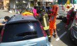 Incidente stradale, una persona rimane incastrata