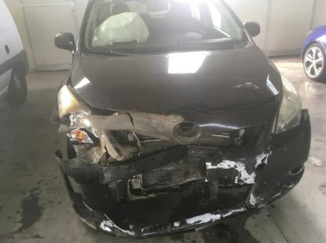 Investe cinghiale, auto distrutta