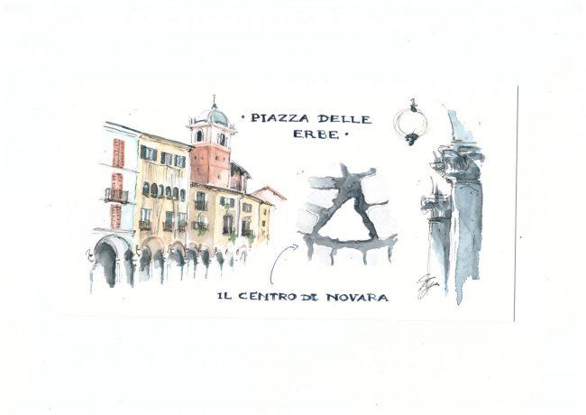 una finestra sul territorio urban sketchers Novara - Piazza delle Erbe