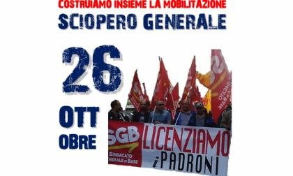 Sciopero generale oggi, venerdì 26: coinvolti i sindacati di base