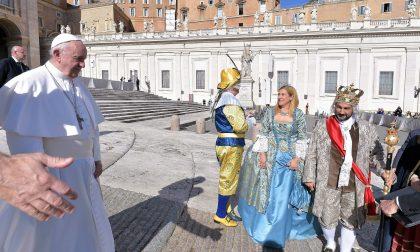 Re Biscottino ha incontrato papa Francesco