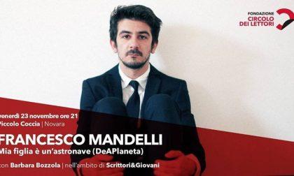 Scrittori&Giovani, Francesco Mandelli a Novara alle 21