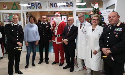 Per Santa Lucia festa in Pediatria con i Carabinieri