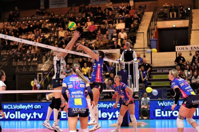 Igor Volley Novara a gonfie vele in Champions
