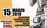Sciopero generale dei lavoratori edili: da Novara a Roma per la manifestazione