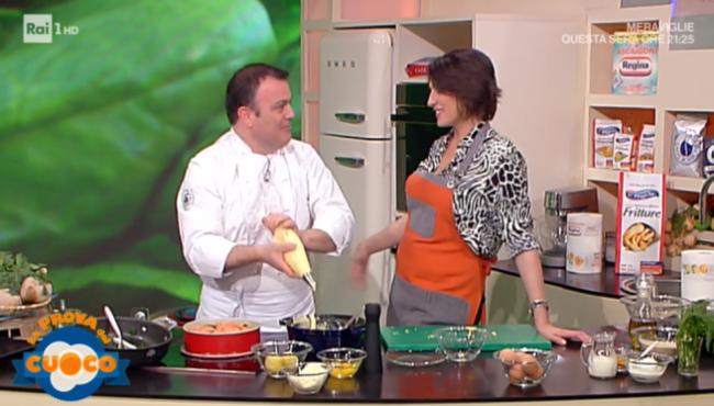 Antonella Clerici, incursione in diretta a 'La prova del cuoco'