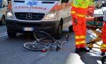 Oleggio ciclista cade a causa di una buca