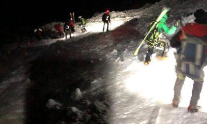 Alpinisti bloccati dal buio e dal ghiaccio