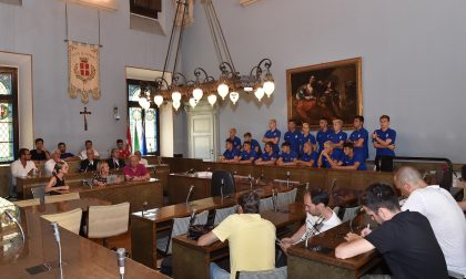 L'Under 16 del Novara premiata in Comune