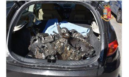 Ricettatori di ricambi auto fermati dalla Polizia di Stato a Novara