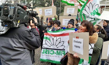 Novara, manifestazione dei lavoratori M&Z