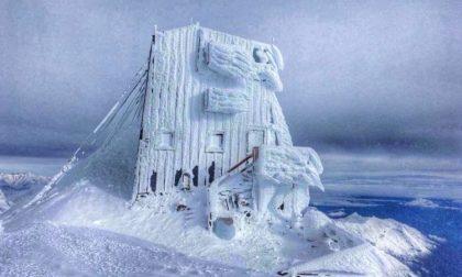 "Capanna Margherita ""ghiacciata"": temperature a -30"