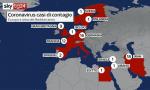 I contagi da Coronavirus in Europa e nel bacino del Mediterraneo VIDEO