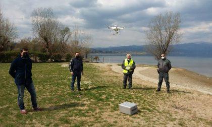 Drone in volo su Castelletto Ticino per controllare gli spostamenti