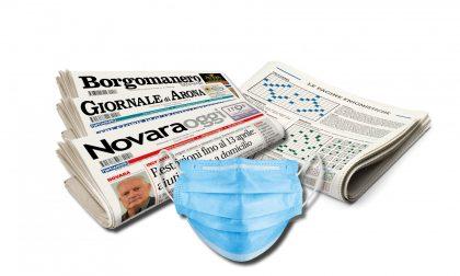 Oggi una mascherina insieme ai nostri giornali