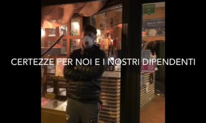 A Borgomanero il flash mob dei ristoratori VIDEO