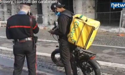 Food delivery, i controlli dei carabinieri IL VIDEO