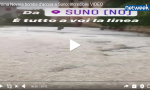 Bomba d'acqua a Suno: incredibile VIDEO