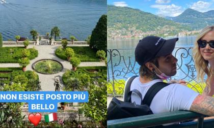 Fedez e Chiara Ferragni in gita alle Isole Borromee