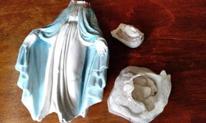 Cameri statua della Madonna lanciata in strada