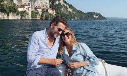 Filippa Lagerback e Daniele Bossari  in gita sul Lago Maggiore
