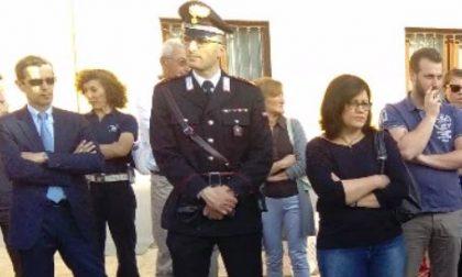 Il maresciallo Vincenzo Verdicchio arriva alla caserma di Arona