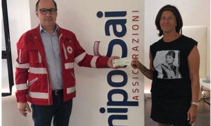 Unipol-Sai dona un ricco assegno alla Croce rossa di Arona