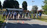 Ciclistica Castellettese si allena in piazzale Cosio