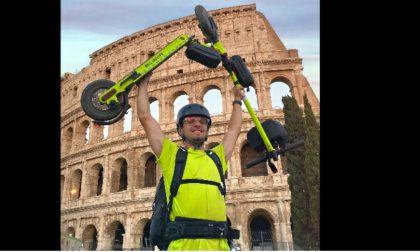 Aronese in monopattino da Milano fino a Roma