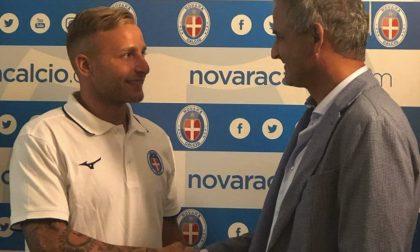 """Il Novara Calcio con i """"nuovi acquisti"""" nel derby"""