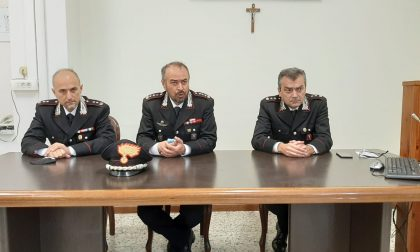 Il comandante provinciale dei carabinieri Domenico Mascoli saluta Novara VIDEO