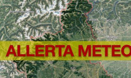 Arpa Piemonte ha diramato l'allerta gialla per tutto il Piemonte orientale
