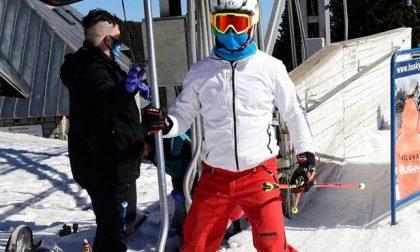 In Valle d'Aosta da ottobre si scia con mascherine chirurgiche e il termoscanner