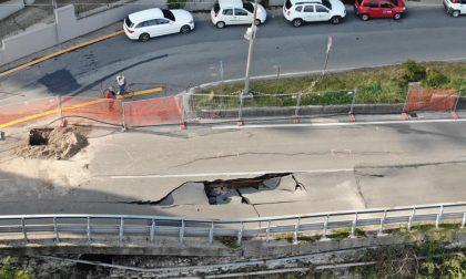 Frana Arona Meina: chiusa anche la strada per San Carlo. Encomio per il cittadino che ha sventato la tragedia
