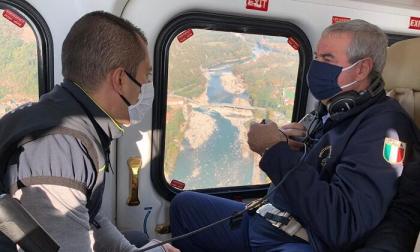 Borrelli visita i luoghi colpiti dall'alluvione: «Saremo più tempestivi possibile»