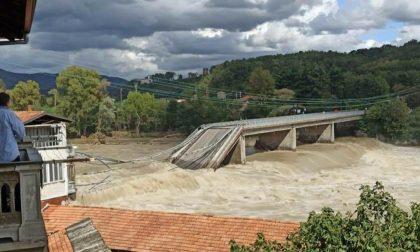 Crolla il ponte sul fiume Sesia a Romagnano VIDEO IMPRESSIONANTE