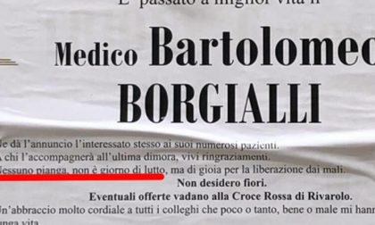 Medico muore e si scrive il manifesto funebre: «Nessuno pianga, non è giorno di lutto»