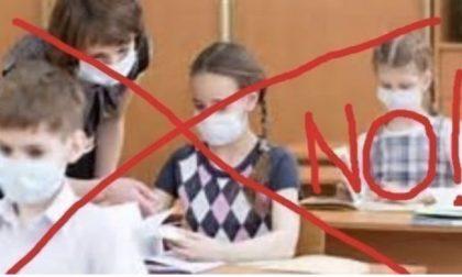 NO alla mascherina in classe: petizione su Facebook