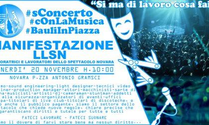 Lavoratori dello spettacolo venerdì in piazza a Novara