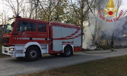 Incendio sterpaglie nel Vco: intervengono i vigili del fuoco