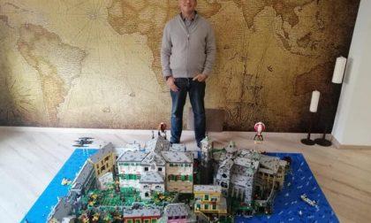 Isola di San Giulio riprodotta con i Lego da un appassionato