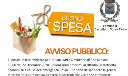 Buoni spesa comunali: al via il secondo bando a Castelletto