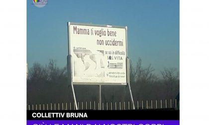 """Trecate spunta un cartello contro l'aborto: """"Mamma ti voglio bene non uccidermi"""""""