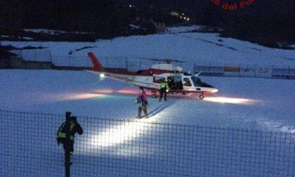 Soccorse con l'elicottero tre escursioniste a Varzo