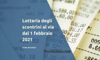 Da domani il via alla Lotteria degli Scontrini
